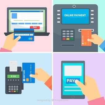 Modes de paiement avec des dispositifs technologiques