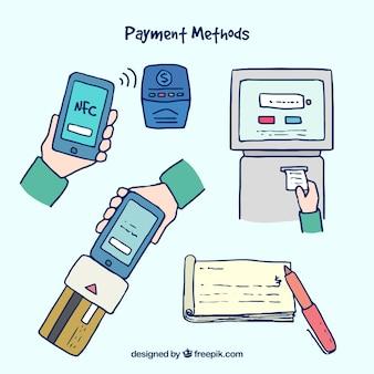 Modes de paiement avec style amusant