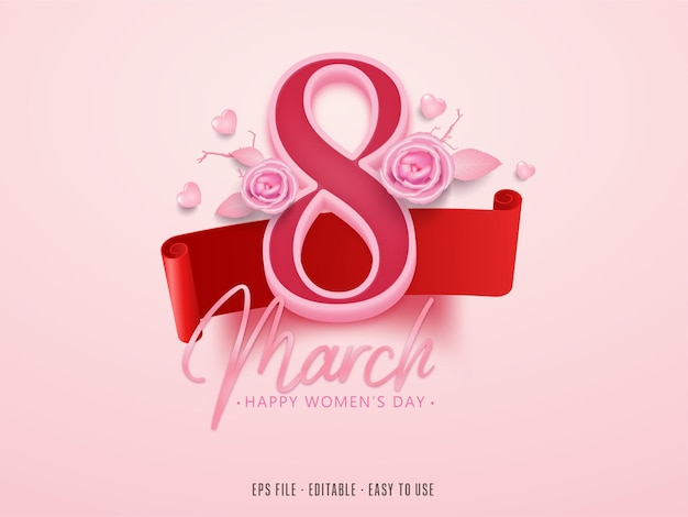 Modifiable 8 mars happy women's day
