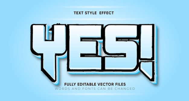 Modifiable oui! effet de style de texte