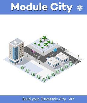 Modules quartiers urbains noël d'hiver