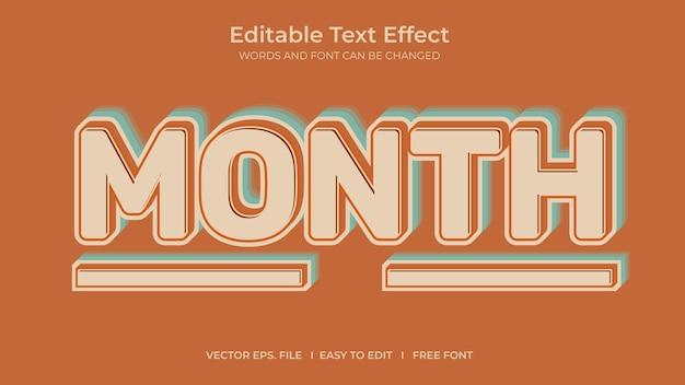 Mois effet texte