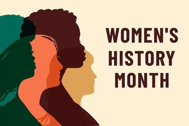 Mois de l'histoire des femmes. journée de la femme.