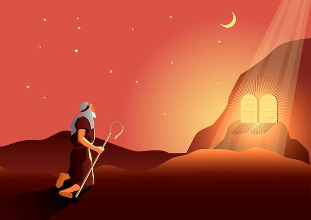 Moïse avec les dix commandements