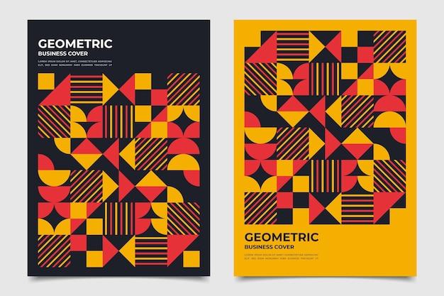 Moitiés de collection de couverture d'entreprise géométrique de cercles