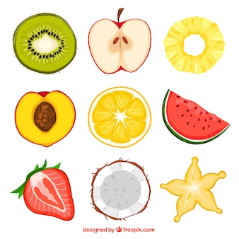 Moitiés de fruits