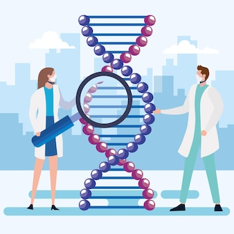 Molécule d'adn et médecins