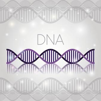 Molécule d'adn sur la structure de la ligne