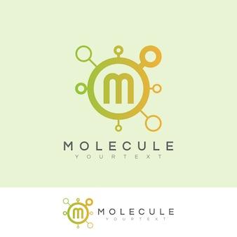 Molécule initiale lettre m création de logo