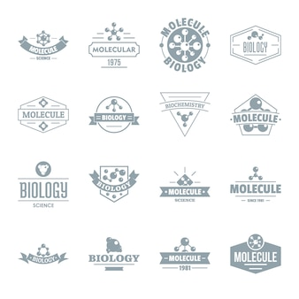 Molecule logo icons set