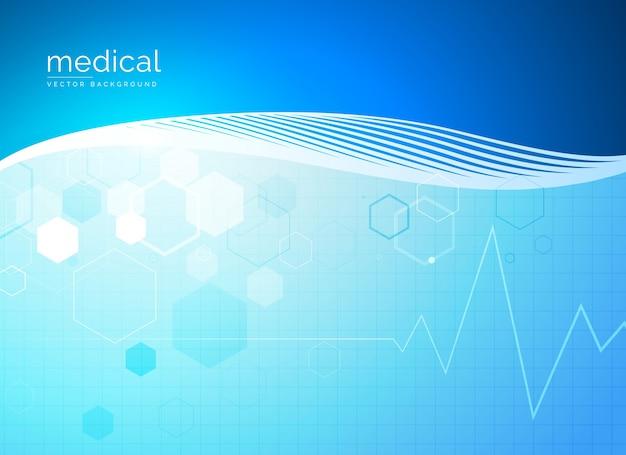 Molécules abstraites conception de fond médical