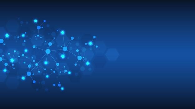 Molécules ou brin d'adn, génie génétique, réseau de neurones