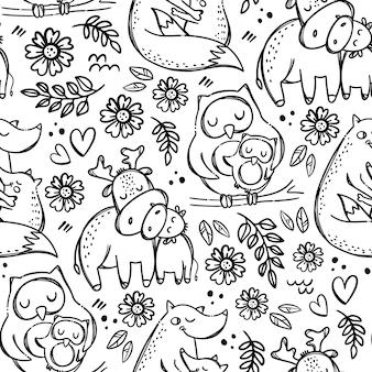 Mom kids love fête des mères animaux mignons câlins et bisous
