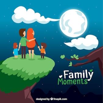 Moments familiales illustration