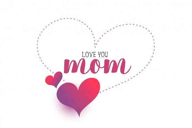Mon amour coeurs salutation fête des mères
