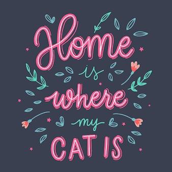 Mon chat est à la maison