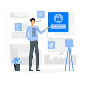 Mon illustration de concept de mot de passe