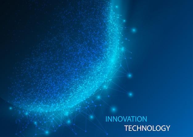 Monde abstrait et science des données numériques et technologie de l'innovation.
