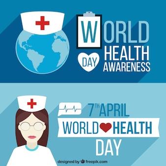 Monde bannières de jour de santé
