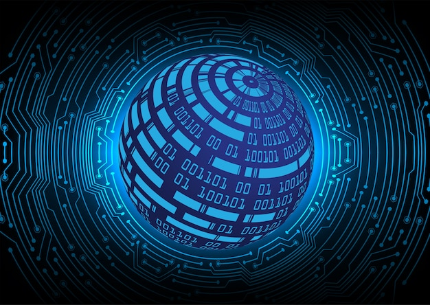 Monde bleu fond du concept de technologie future cyber circuit