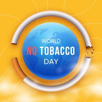 Monde dégradé sans illustration de la journée du tabac