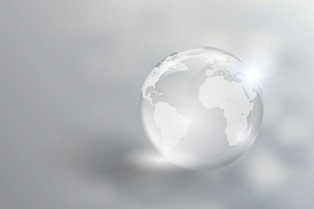 Le monde du verre de cristal reflète la clarté.
