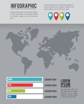 Monde entier d'infographie