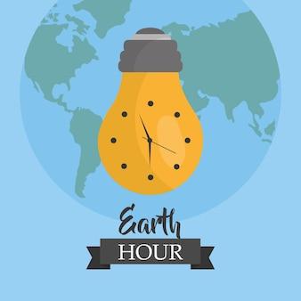 Monde de l'environnement écologie de la terre heure mondiale