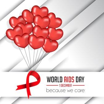 Monde illustration de la journée du sida