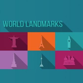 Monde landmarks fond