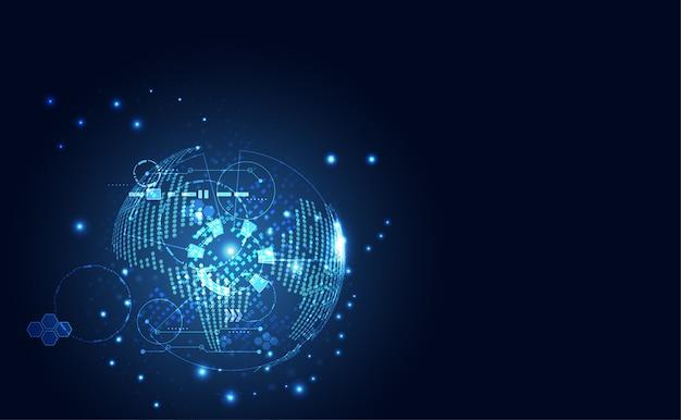 Monde moderne abstrait de communication de technologie numérique