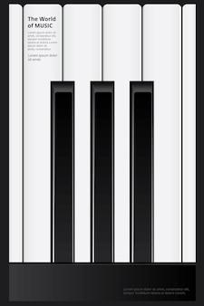 Le monde de la musique affiche illustration vectorielle