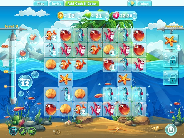 Monde des poissons - terrain de jeu