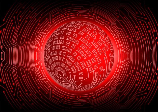 Monde rouge cyber circuit futur technologie concept fond