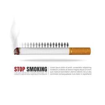 Monde sans concept de jour du tabac.