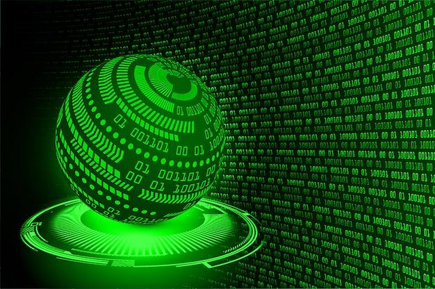 Monde vert cyber circuit futur concept de technologie