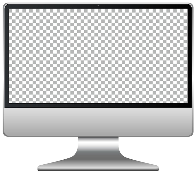 Moniteur d'affichage d'ordinateur isolé sur fond blanc