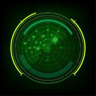Moniteur vert du radar