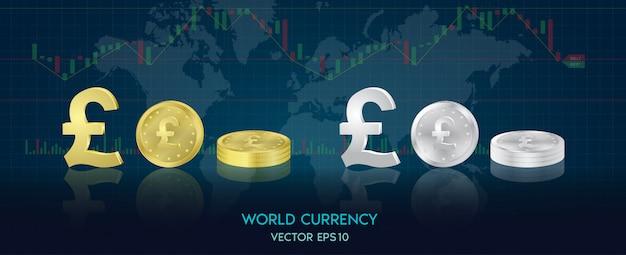 Monnaie mondiale. bourse. illustration de stock.