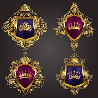 Monogram logos set