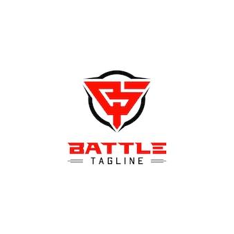 Monogramme bp pour le logo de l'équipe de combat tactique