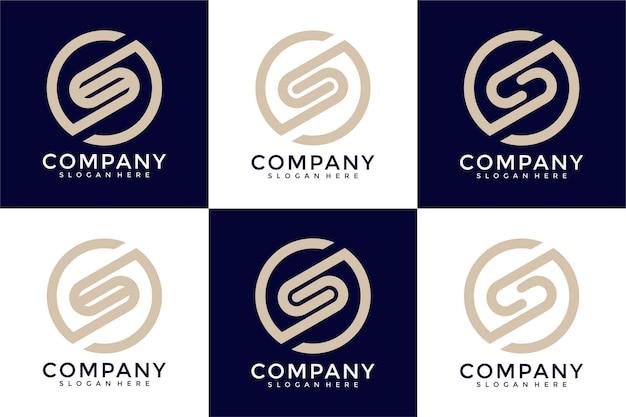 Monogramme de collection de logo de lettre s