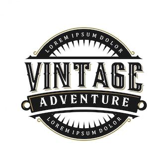 Monogramme d'extérieur avec logo vintage
