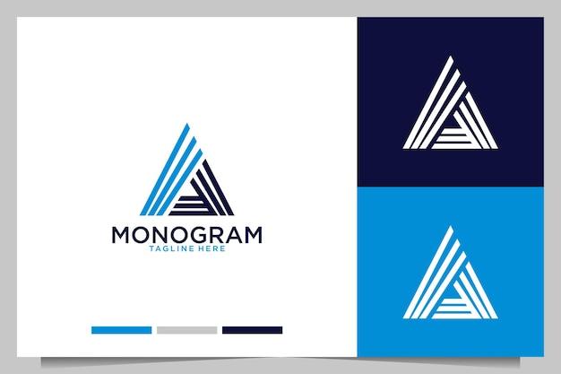 Monogramme avec lettre a création de logo moderne