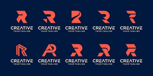 Monogramme lettre initiale r rr logo icônes de modèle pour les entreprises de la technologie de la mode numérique