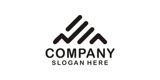 Monogramme minimaliste à la mode un logo d'entreprise de lettre pour la marque