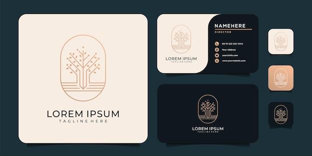 Monogramme minimaliste plante feuille logo design féminin élégant