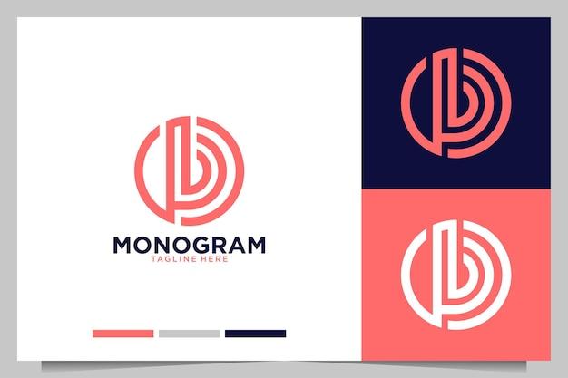 Monogramme moderne avec création de logo lettre b