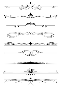 Monogrammes et bordures vintage