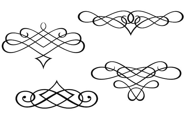 Monogrammes et éléments de tourbillon